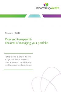Clear and transparent portfolio cost