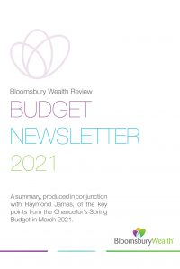 Bloomsbury Wealth budget newsletter 2021 Cover